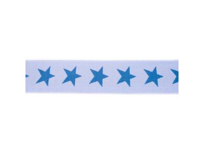 Gummiband ca. 40 mm - Sterne - helles blau/jeans