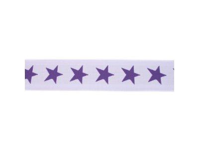 Gummiband ca. 40 mm - Sterne - lila/violett