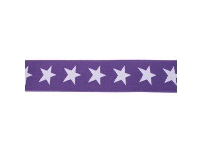 Gummiband ca. 40 mm - Sterne - violett/lila