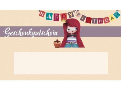 Geschenkgutschein - Geburtstag