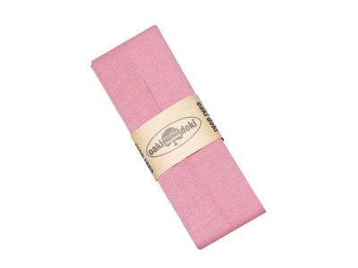 Jersey Schrägband Oaki doki gefalzt 20 mm x 3 m  - helles rosa