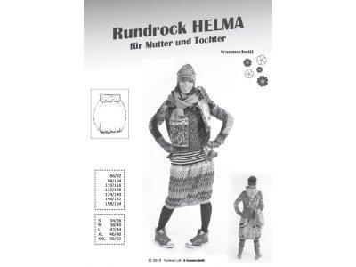 Schnittmuster HELMA Rundrock Farbenmix