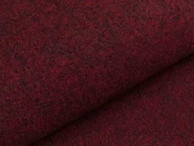 Walkloden - meliert rot/schwarz