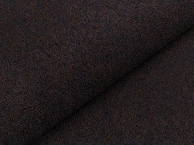 Walkloden - meliert blau/braun