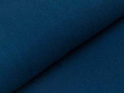 Glattes Bündchen im Schlauch - uni dunkles jeansblau