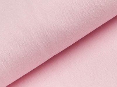 Glattes Bündchen im Schlauch - uni pastellrosa