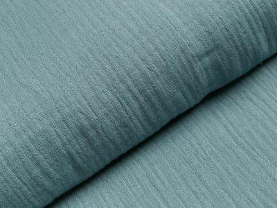 Musselin Double Gauze - uni blau