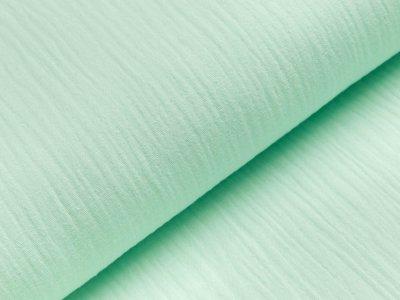 Musselin Double Gauze - uni helles mint