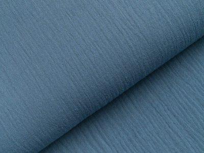 Musselin Double Gauze - uni jeansblau
