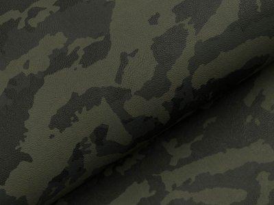 Struktur Lederimitat Camouflage - dunkles grün