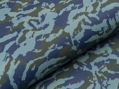 Struktur Lederimitat Camouflage - blau