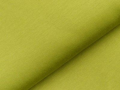 Leicht angerauter Sweat - uni grün