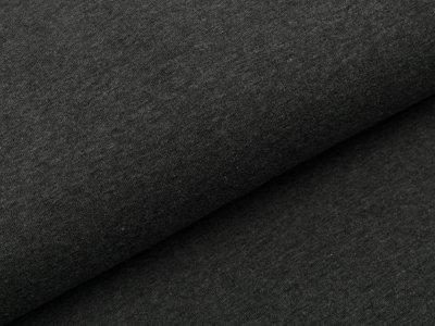 Leicht angerauter Sweat - uni meliert dunkles grau