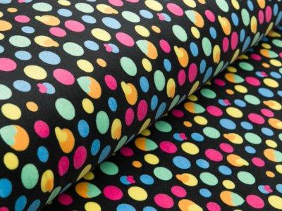Nicki-Fleece - Herzen und Punkte - schwarz/bunt