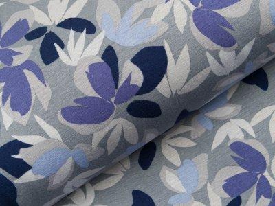 Alpenfleece  - verschiedene Blüten - blaugrau