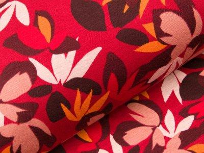 Alpenfleece  - verschiedene Blüten - rot