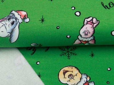 Sweat French Terry Disney Winnie the Pooh Christmas Collection - Puuh feiert Weihnachten - grün