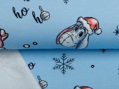 Sweat French Terry Disney Winnie the Pooh Christmas Collection - Puuh feiert Weihnachten - blau