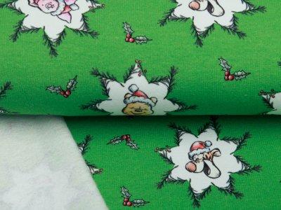 Sweat French Terry Disney Winnie the Pooh Christmas Collection - Puuh unterm Mistelzweig - grün