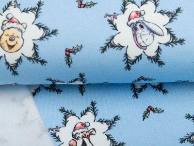 Sweat French Terry Disney Winnie the Pooh Christmas Collection - Puuh unterm Mistelzweig - blau