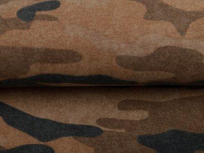 Leicht angerauter Sweat - Camouflage - sand