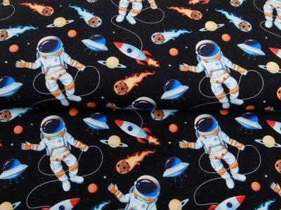 Jersey Digitaldruck - Astronauten - schwarz