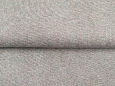 Musselin Baumwolle Double Gauze Digitaldruck - Leinenoptik - uni taupe