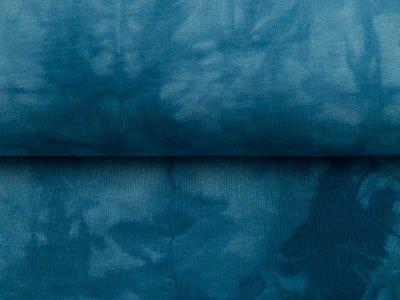 Sweat French Terry - Batikstyle - uni jeansblau
