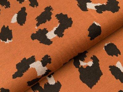 Jacquard-Jersey Milliblu´s - Animalprint - rost