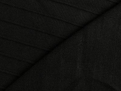 Viskose- Feinstrickstoff Milliblu´s - Querrippe - schwarz