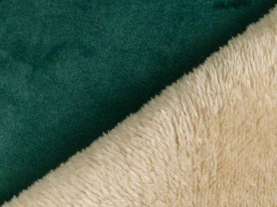 Lederimitat mit Fellabseite Milliblu´s - smaragdgrün