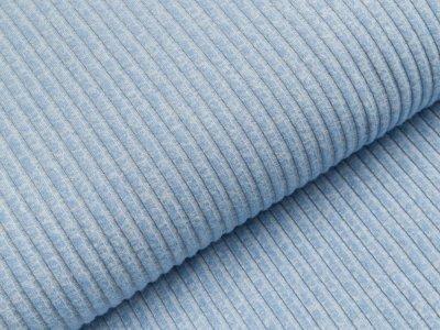 Rippstrick Jersey Milliblu´s - Streifen - meliert  blau