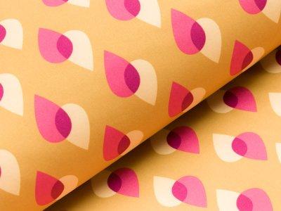 Jackenstoff Softshell by Hamburger Liebe PARK LANE  - Tropfen - ocker