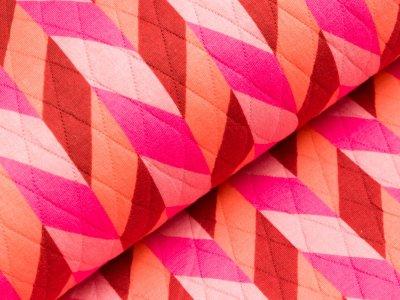 Rautenstepper by Hamburger Liebe PARK LANE - Zopfmuster - pink/koralle