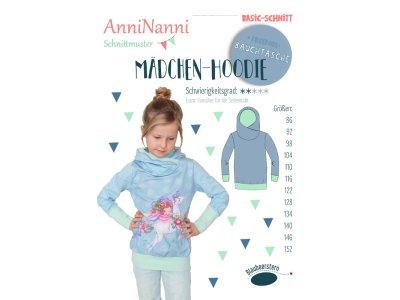 Papierschnittmuster Blaubeerstern AnniNanni MÄDCHEN-HOODIE - Mädchen