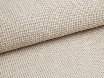 Waffelpiqué Baumwolle uni beige