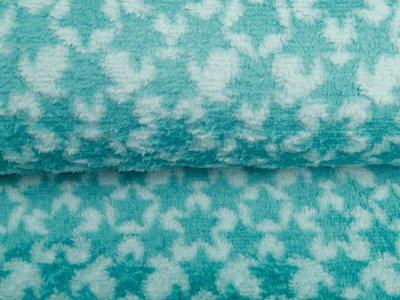 Zottel-Wellnessfleece Soft Star - Sterne - mint