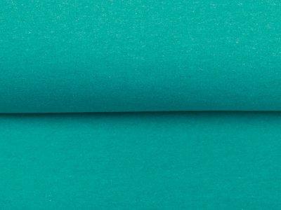Leicht angerauter Sweat Melange Brushed - meliert grün