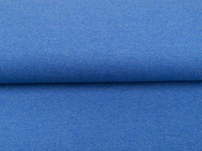 Leicht angerauter Sweat Melange Brushed - meliert blau