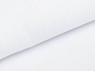 Musselin Baumwolle Triple Gauze - uni - weiß