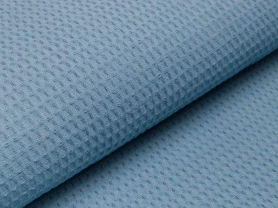 Waffelpiqué Baumwolle - Waffeloptik - blau
