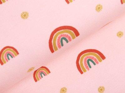 Angerauter Sweat Softtouch by Poppy - Regenbögen - rosa