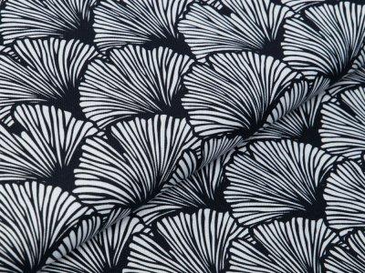 Canvas Swafing Rinteln - Ginkgo-Blätter - schwarz