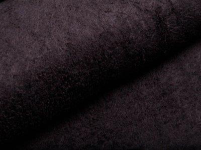 Zottelfleece - uni schwarz
