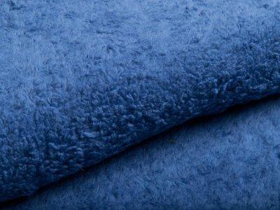 Zottelfleece - uni blau