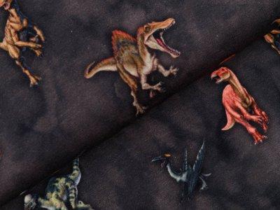 Jersey Digitaldruck Jurassic World - Dinos - anthrazit
