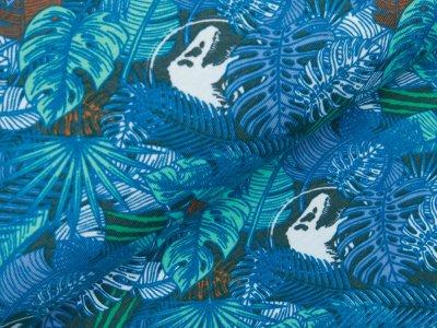 Jersey Jurassic World - Dinos und Palmenblätter - petrol