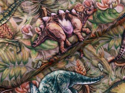 Jersey Digitaldruck Jurassic World - Dinos - rosa