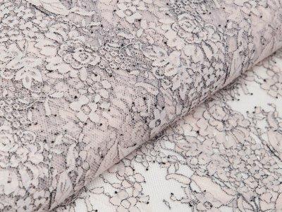 Italienische Hochwertige Spitze - Florales-Muster - rosa