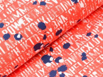 Sweat Swafing Liverpool by Lila-Lotta - Schriftzüge und Kleckse - orange